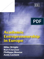 ENTREPRENEURSHIP Academic Entrepreneurship in Europe