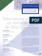 Telecomunicaciones en Los en Los Ferrocarriles de Alta Velocidad