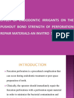 Effect of Endodontic Irrigants on the Pushout
