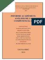 Informe Académico. Análisis de La Competencia 17 Currículo Nacional