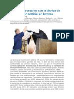 I.a. Cuidados Necesarios Con La Técnica de Inseminación Artificial en Bovinos