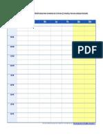 un horario didactico