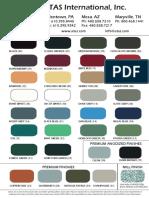 ATAS Color Chart