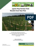Organic Hop Variety Trial