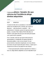 Funcionalismo - Senador diz que reforma da Previdência atinge direitos adquiridos .pdf