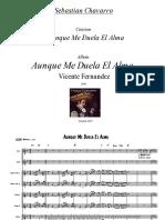 Aunque Me Duela El Alma Score