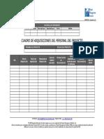 Formato de Dquisiciones de Personal Del Proyecto