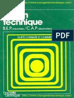 (Feu Vert Série Technique) Barbey, Yvette-Dessin Technique _ B.E.P. Industriels, C.a.P. Dessinateur-Hachette (1979)