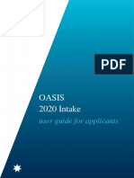 Oasis Applicant User Guide