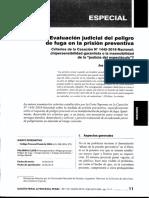 Artículo ACS Evaluación Judicial Del Peligro de Fuga