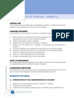 Taxation course outline