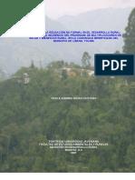 Educacion No Formal en El Desarrollo Rural
