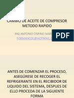 Cambio de Aceite de Compresor II