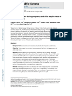 Apr 2019 Maternal Lipid During Pregnancy