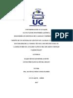 Diseño de Un SGC Conforme ISO 9001 2015 Para Laboratorio Clínico