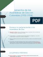 FORMACIÓN DE LAS ASAMBLEAS DE DIOS DE COLOMBIA