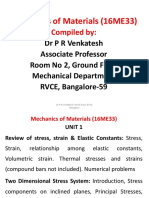 1 Elastci Constants,Thermal Stresses & 2D Stress System