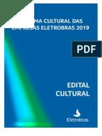 Edital Cultural 2019 - Lançamento - Edital