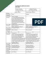 Mains Schedule 2010