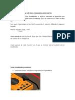 Medidas de Resistencia Eléctrica Utilizando El Múltimetro