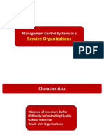 Management Control Systems in Services Organization