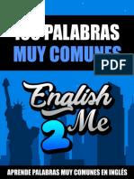 Libro 100 Palabras Muy Comunes En Inglés Por English2Me.pdf