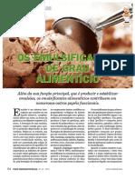Os Emulsificantes de grau alimentício
