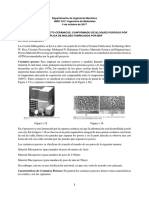 Informe Investigativo Proyecto Espumas Cerámicas