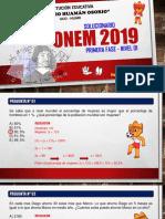 SOLUCIONARIO ONEM 2019