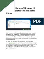 Busca Archivos en Windows 10 Como Un Profesional Con Estos Filtros