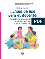 Kit Evaluacion Manual Uso Docente 4to Primaria Comunicacion