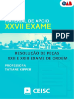 Resolução Do Exame XXII e XXIII