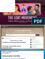 2.The LGBT Movement- Homosexuality in the Bible- Lot, Noah and Sodom and Gomorrah