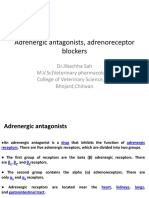 Adrenergic Antagonists Adrenoreceptor Blockers-Dr.Jibachha Sah,M.V.Sc,Lecturer