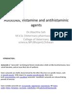 Autocoids, Histamine and Antihistaminic-Dr.Jibachha Sah,M.V.Sc,Lecturer