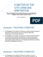 In the Matter of the South China Sea Arbitration