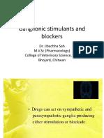 Ganglionic Stimulants and Blockers-Dr.Jibachha Sah,M.V.Sc,Lecturer