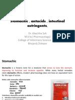 Stomachic , Antacids , Intestinal astringent-Dr.Jibachha Sah,M.V.Sc,Lecturer