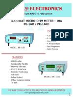 PE-16R & PE-16RC Micro Ohm Meter