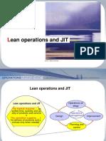 Operations Ch 4 - Lean & JIT