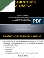 1.1 - Termoquímica -Fundamentación Matemática - 2018 II
