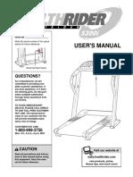 Health Rider S300i Manual