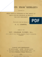 003 - Fragments from Reimarus Consisting of Brief Critical Remarks on the Object of Jesus and His Disciples As Seen in the New Testament - (Hermann Samuel Reimarus).pdf