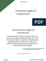 Transmission Angle