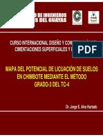 MAPA DEL POTENCIAL DE LICUACION DE SUELOS