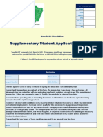 NDVO Supplementary Student Application Form