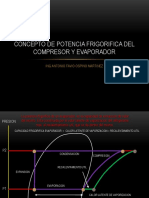 Concepto Potencia Frigorifica Compresor y Evaporador