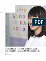 5 Daily Habits to Steal From Marie Kondo