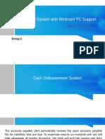 Cash Disbursement System
