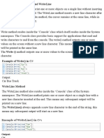 Write() and WriteLine().pdf